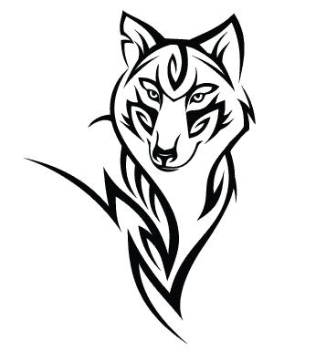 Наклейка волк