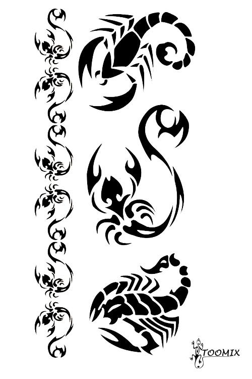рисунок скорпиона для тату
