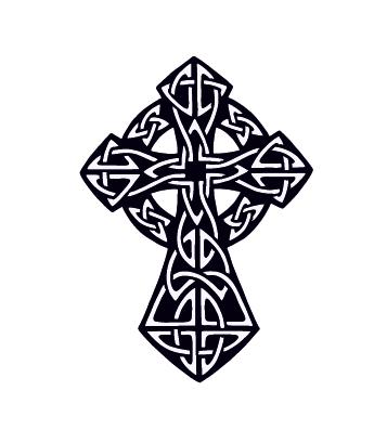 переводная тату крест кельтский