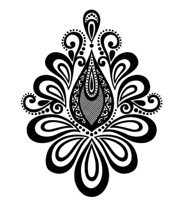 Цветок мехенди