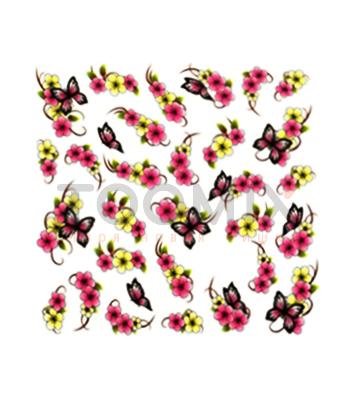 Наклейка на ногти бабочка