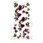 Татуировка наклейка «Бутоны роз»