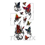 Наклейка татуировка на тело«Бабочки яркие»