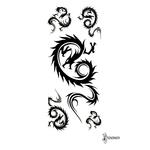 Переводная татуировка «Трайбл дракон»