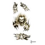 Временная татуировка «Оскал льва»