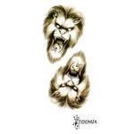 Переводная тату «Оскал льва»