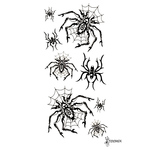 Переводная татуировка «Паук в паутине»