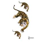 Переводная тату «Цветной тигр»