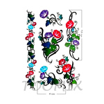 Переводная тату «Вьющиеся цветы»