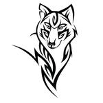 Переводная наклейка «Волк»