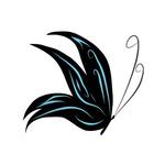 Переводная татуировка в виде бабочки