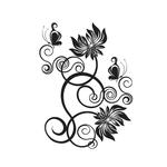 Переводная татуировка «Цветочный орнамент»