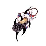 Временная татуировка «Клык»