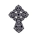 Переводная тату «Крест кельтский»
