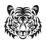 Переводная тату «Морда тигра»