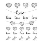 Переводная наклейка для тела и ногтей «Love»