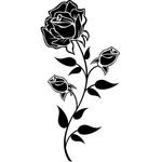 """Переводная татуировка """"Черная роза"""""""