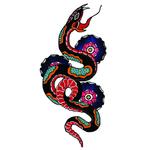"Переводная татуировка ""Змея олд скул"""