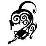 Переводная тату «Кошка трайбл»