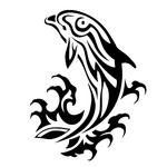 Переводная наклейка «Дельфин»