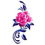 Переводная наклейка «Роза»
