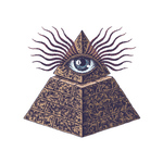 Переводная тату «Всевидящее око»