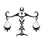 Переводная тату «Знак Весов»