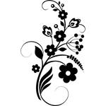 """Переводная татуировка """"Цветочный узор"""""""
