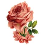 """Переводная татуировка """"Розовая роза"""""""
