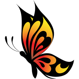 """Переводная татуировка """"Оранжевая бабочка"""""""
