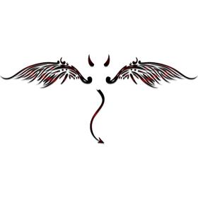 """Переводная татуировка """"Крылья дъявола"""""""