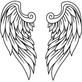 """Переводная татуировка """"Крылья ангела"""""""
