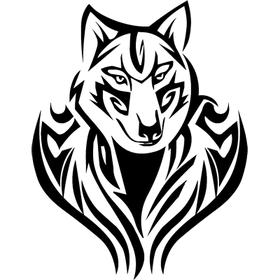 """Переводная татуировка """"Волк трайбл"""""""