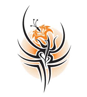 Сводной цветок в стиле трайбл