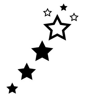 Переводная тату «Черные звезды»