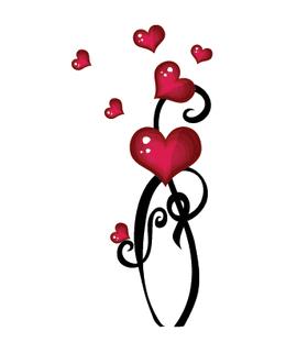 Переводная наклейка «Сердца»