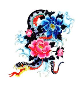 Переводная наклейка «Змея»