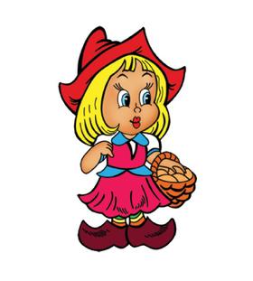 Переводная наклейка «Красная шапочка»