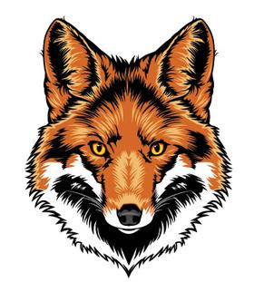 Переводная тату «Морда лисы»