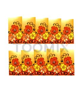 Водная наклейка на ногти «Оранж»