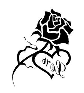 Переводная татуировка «Черная роза»