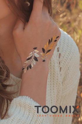 """Флеш татуировка """"Листья"""""""