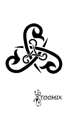 Временная татуировка «Узор трайбл»