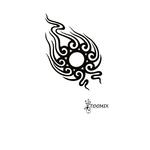 Временная татуировка «Солнце трайбл»