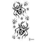 Временная тату «Черный паук»