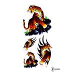 Временная татуировка «Тигр цветной»