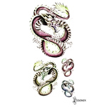 Наклейка тату «Японский цветной дракон»