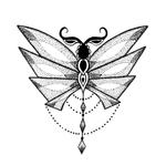 Переводная наклейка «Стрекоза»