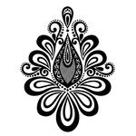 Переводной цветок «Мехенди»