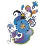 Переводной цветок «Пейсли»